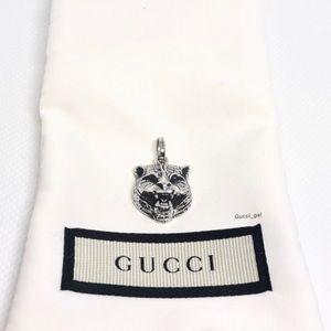 New Gucci Gatto Feline Sterling Pendant Charm